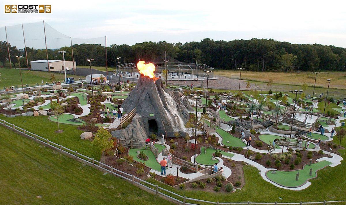 Adventure Golf Volcano Slide Photo