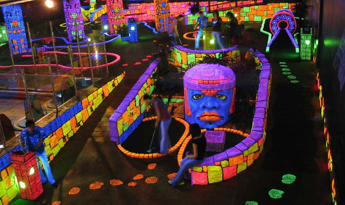 Black Light Mayan Course Slide Photo